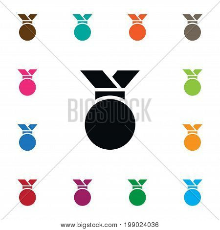 Medallion Vector Element Can Be Used For Award, Medallion, Medal Design Concept.  Isolated Award Icon.