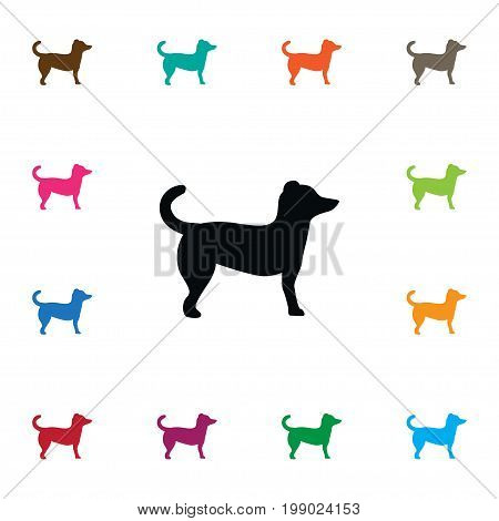 Dog Vector Element Can Be Used For Dog, Animal, Pooch Design Concept.  Isolated Pooch Icon.