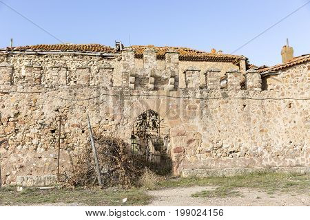 a stone made wall of an ancient castle