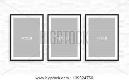 Empty White A4 Sized Vector Paper Frame Mockup. Show Your Flyers, Brochures, Headlines Etc With This