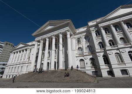 Curitiba, Brazil - July 21, 2017: Federal University of Parana State, located in the city center.