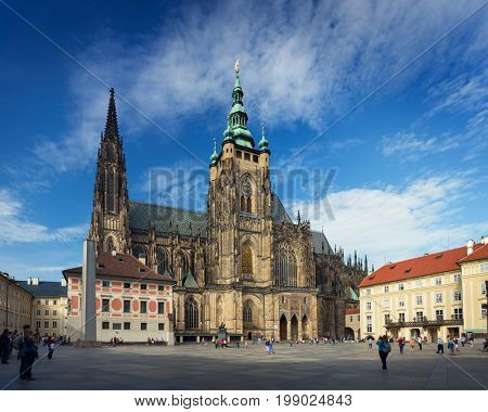 PRAGUE, CZECH REPUBLIC - SEPTEMBER 20, 2014: Saint Vitus Cathedral