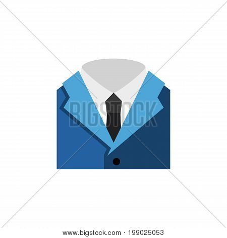 Suit Vector Element Can Be Used For Necktie, Shirt, Suit Design Concept.  Isolated Shirt Flat Icon.