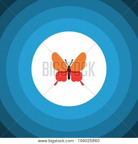 Danaus Plexippus Vector Element Can Be Used For Butterfly, Monarch, Moth Design Concept.  Isolated Butterfly Flat Icon.