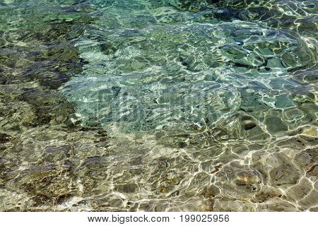 Shining blue water ripple background. abstract image