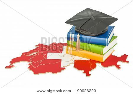 Education in Switzerland concept 3D rendering isolated on white background