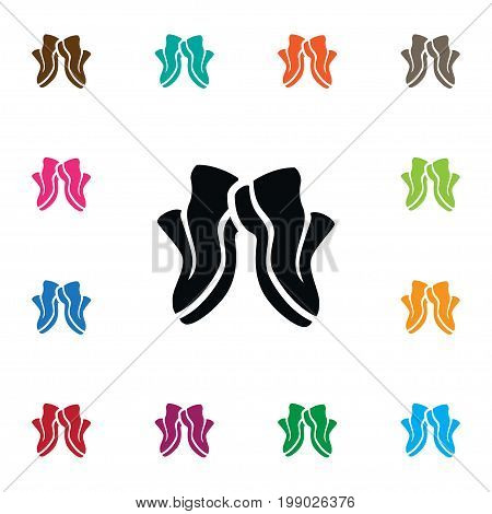 Gumshoes Vector Element Can Be Used For Sneakers, Sport, Shoes Design Concept.  Isolated Sneakers Icon.