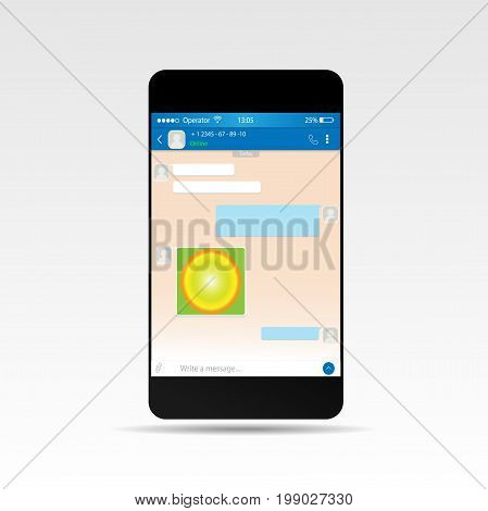Social network concept. Blank template. Messenger window. Chating and messaging concept. Vector EPS 10