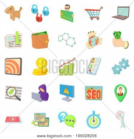 IT specialist icons set. Cartoon set of 25 it specialist vector icons for web isolated on white background