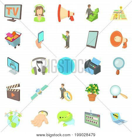 Development of applications icons set. Cartoon set of 25 development of applications vector icons for web isolated on white background