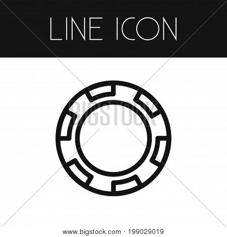 Stack Vector Element Can Be Used For Chip, Stack, Casino Design Concept.  Isolated Disk Outline.