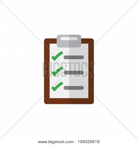 Questionnaire Vector Element Can Be Used For Questionnaire, Checklist, Form Design Concept.  Isolated Checklist Flat Icon.