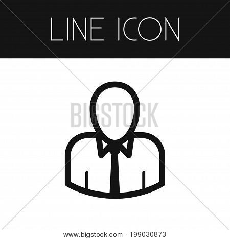 Orator Vector Element Can Be Used For Man, Orator, Speaker Design Concept.  Isolated Man Outline.