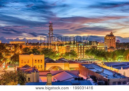 Gainesville, Florida, USA downtown skyline.