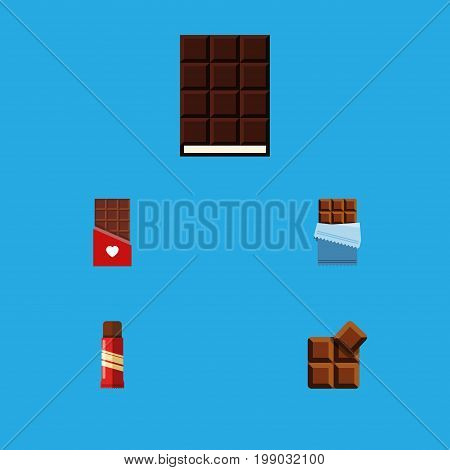 Flat Icon Bitter Set Of Bitter, Cocoa, Dessert And Other Vector Objects