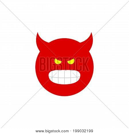 Pouting Vector Element Can Be Used For Pouting, Angry, Smile Design Concept.  Isolated Angry Flat Icon.