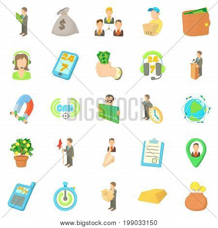 Contract icons set. Cartoon set of 25 contract vector icons for web isolated on white background