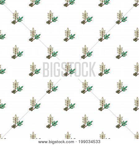 Olives pattern in cartoon style. Seamless pattern vector illustration