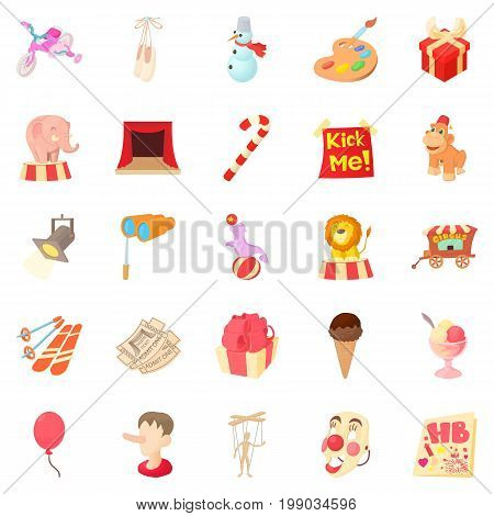Delight icons set. Cartoon set of 25 delight vector icons for web isolated on white background