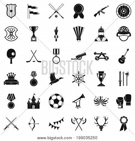 Trophy icons set. Simple style of 36 trophy vector icons for web isolated on white background