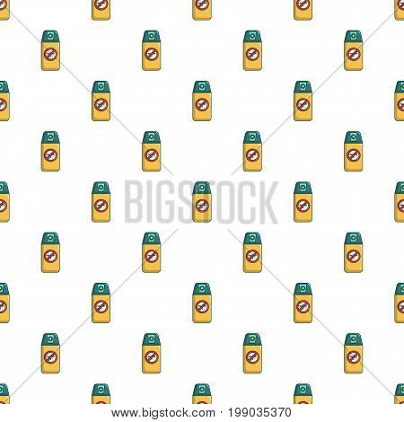 Spray no mosquito pattern in cartoon style. Seamless pattern vector illustration