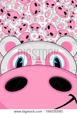 Cartoon Hippo 34