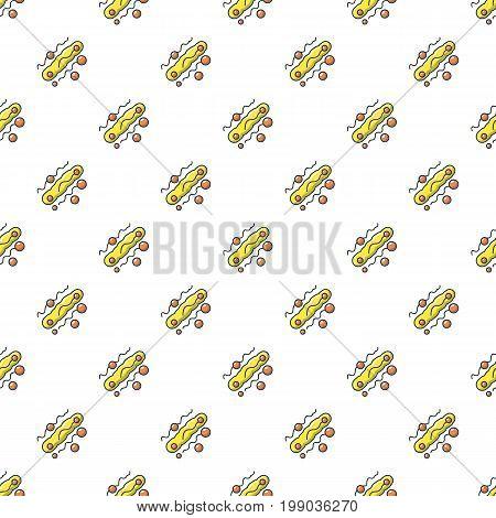 Long oval virus pattern in cartoon style. Seamless pattern vector illustration