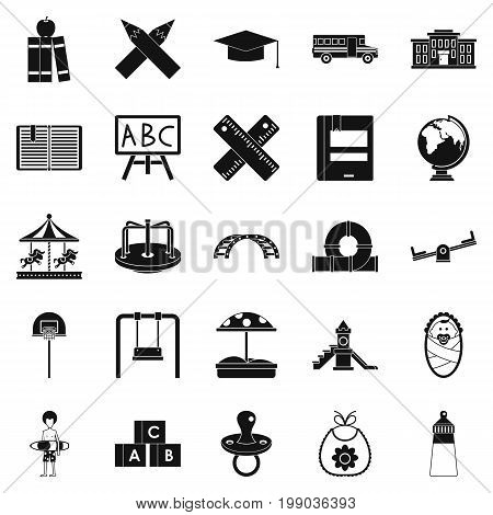 Pupil icons set. Simple set of 25 pupil vector icons for web isolated on white background