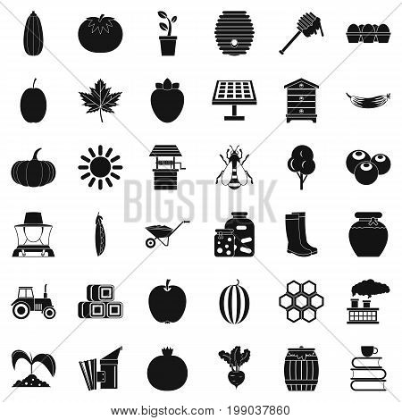 Useful vitamin icons set. Simple style of 36 Useful vitamin vector icons for web isolated on white background