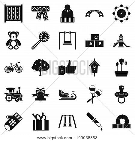 Kindergarten icons set. Simple set of 25 kindergarten vector icons for web isolated on white background