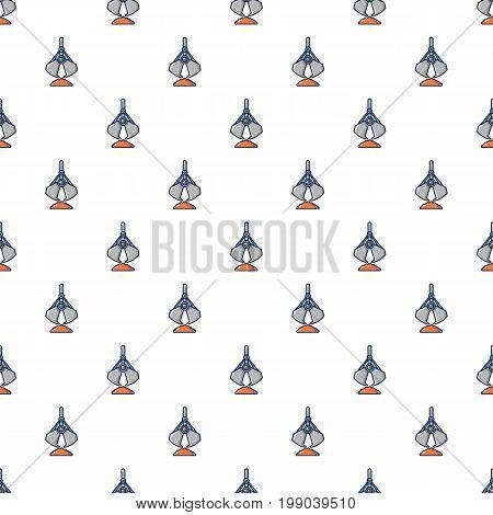 Excavator bucket pattern in cartoon style. Seamless pattern vector illustration
