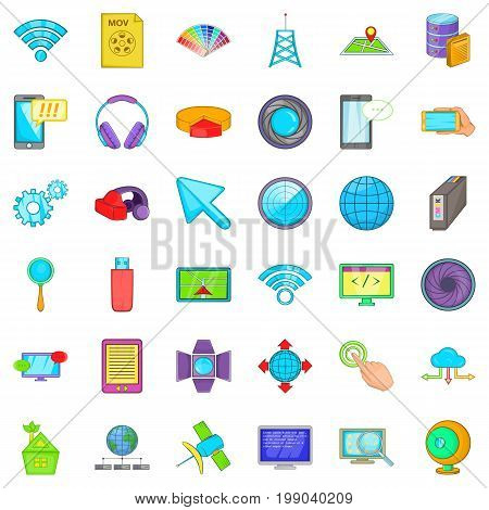 Web progress icons set. Cartoon style of 36 web progress vector icons for web isolated on white background