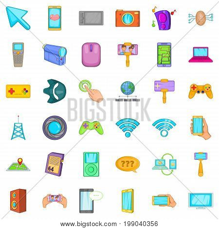 Web money icons set. Cartoon style of 36 web money vector icons for web isolated on white background