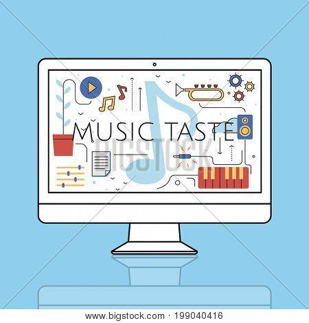 Music Taste Passion Lifestyle Word Graphic