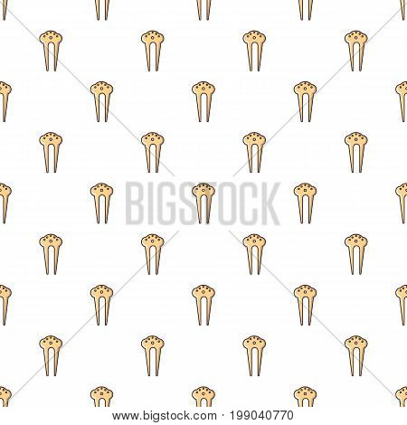 Comb for hair decoration pattern in cartoon style. Seamless pattern vector illustration