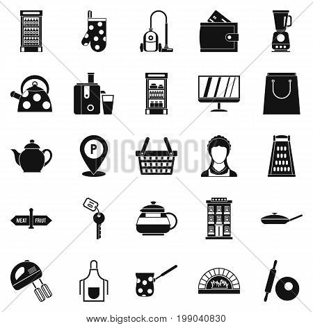 Utensil icons set. Simple set of 25 utensil vector icons for web isolated on white background