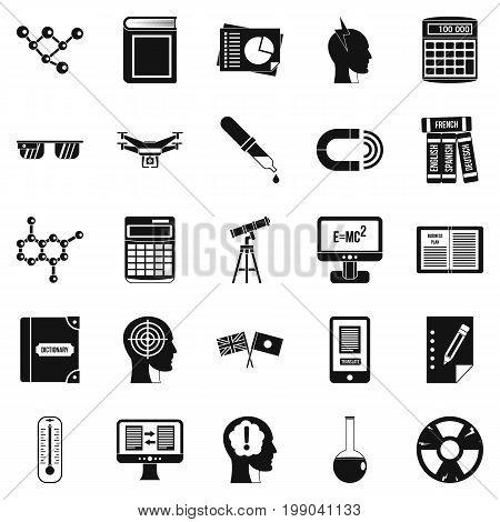 Bursary icons set. Simple set of 25 bursary vector icons for web isolated on white background