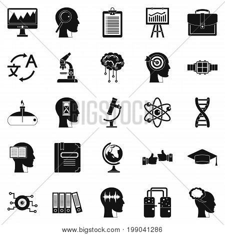 World knowledge icons set. Simple set of 25 world knowledge vector icons for web isolated on white background