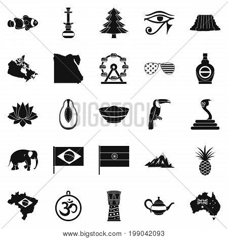 Feature icons set. Simple set of 25 feature vector icons for web isolated on white background