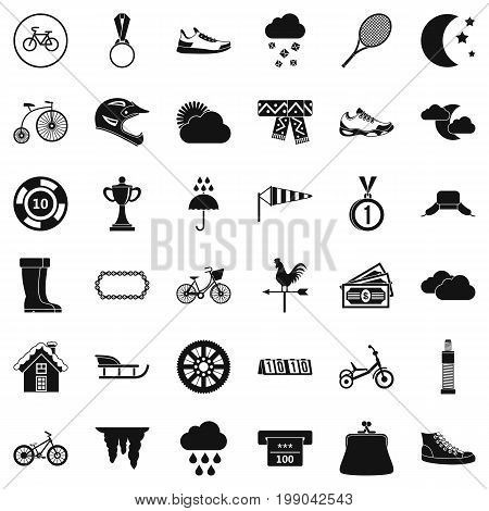 Woman trophy icons set. Simple style of 36 woman trophy vector icons for web isolated on white background