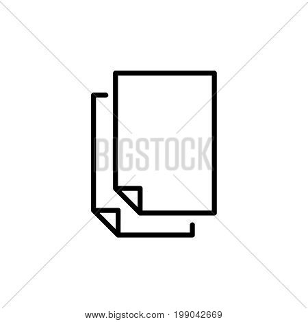 Premium document icon or logo in line style. High quality sign and symbol on a white background. Vector outline pictogram for infographic, web design and app development.