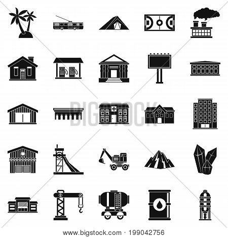 Situation icons set. Simple set of 25 situation vector icons for web isolated on white background