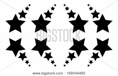 Background black star vector illustration collection stock