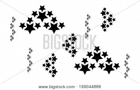 Star abstract background collection stock vector illustration