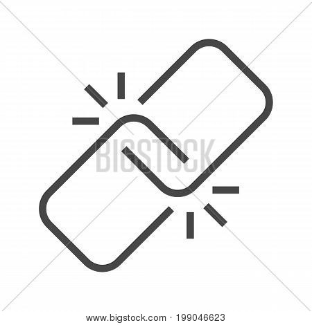 Link Thin Line Vector Icon. Flat icon isolated on the white background. Editable EPS file. Vector illustration.