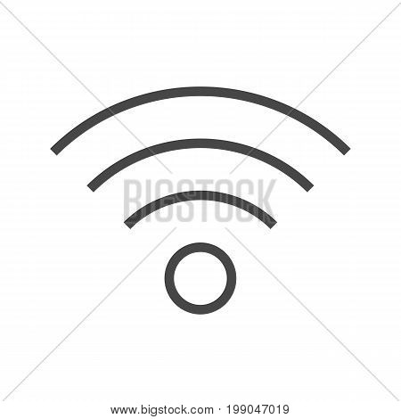 Wi FI Thin Line Vector Icon. Flat icon isolated on the white background. Editable EPS file. Vector illustration.