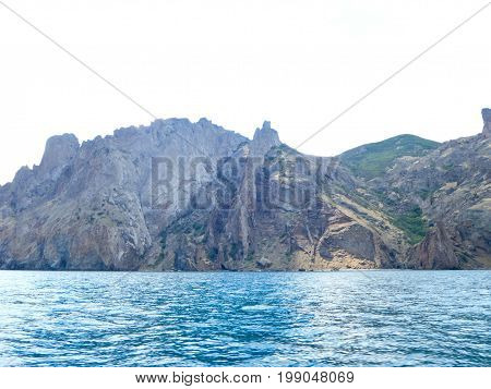 Crimean Landscape Of Extinct Karadag Volcano