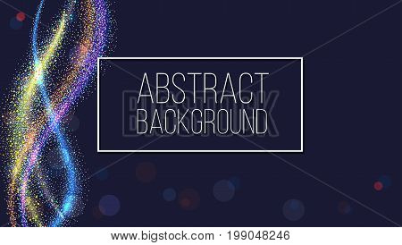 Glow smoky waves background. Curved pattern, flow motion illustration. Abstract backdrop, template for cover, banner, poster or packaging.