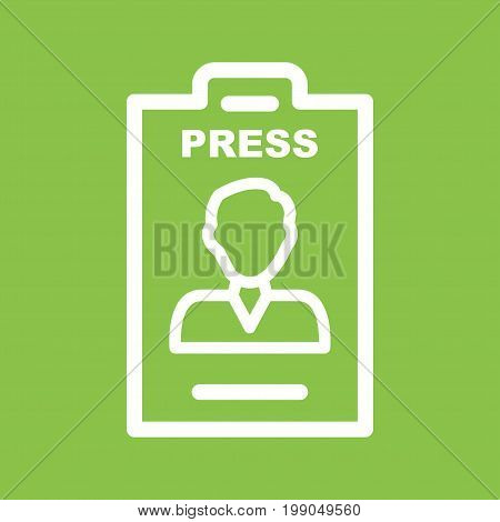 Male, card, employee icon vector image. Can also be used for news and media. Suitable for mobile apps, web apps and print media.