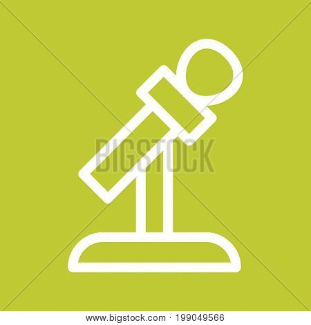 Mic, stand, microphone icon vector image. Can also be used for news and media. Suitable for mobile apps, web apps and print media.